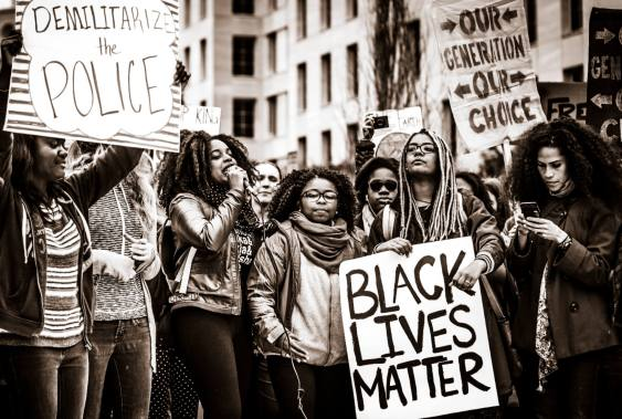 Protesta Black Lives Matter en Estados Unidos.