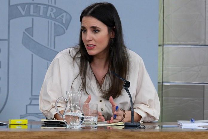 Ministra Irene Montero