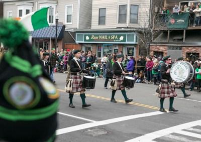 Desfile en el día de San Patricio en Boston