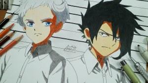 Fanart de los personajes de Yakusoku No Neverland
