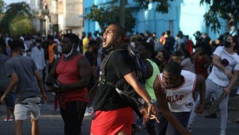manifestantes cuba