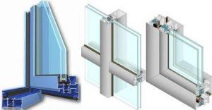 perfil ventana de aluminio