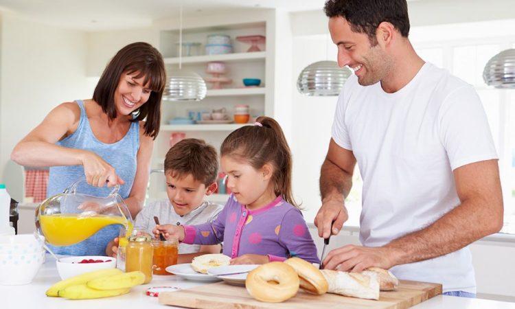 niños rutina desayunar