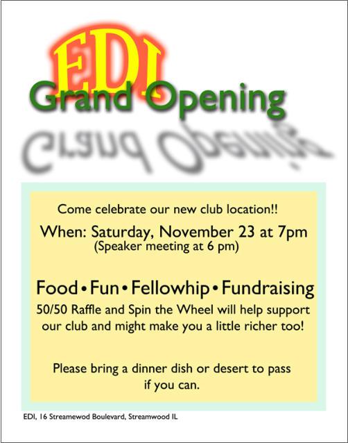 EDI Club Grand Opening!  1