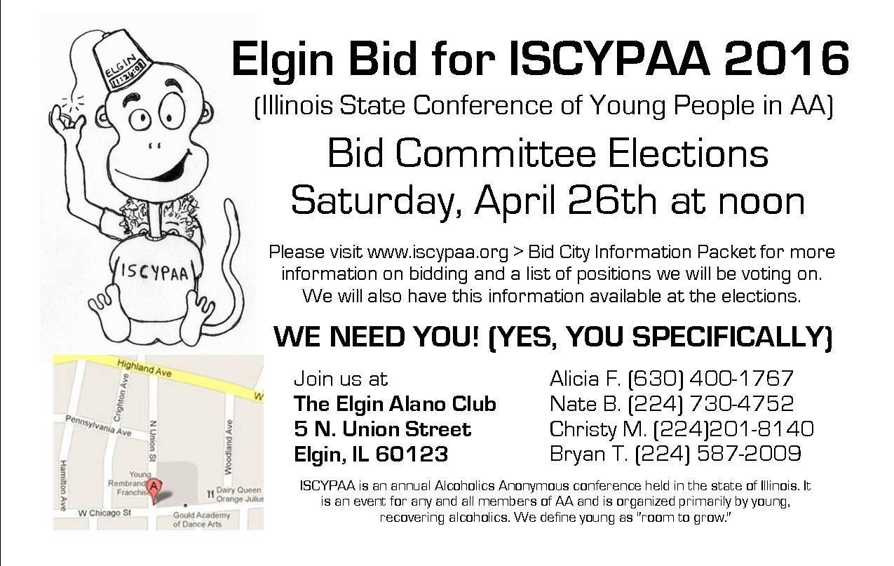 ISCYPAA 2016 - Elgin Bid Elections 1