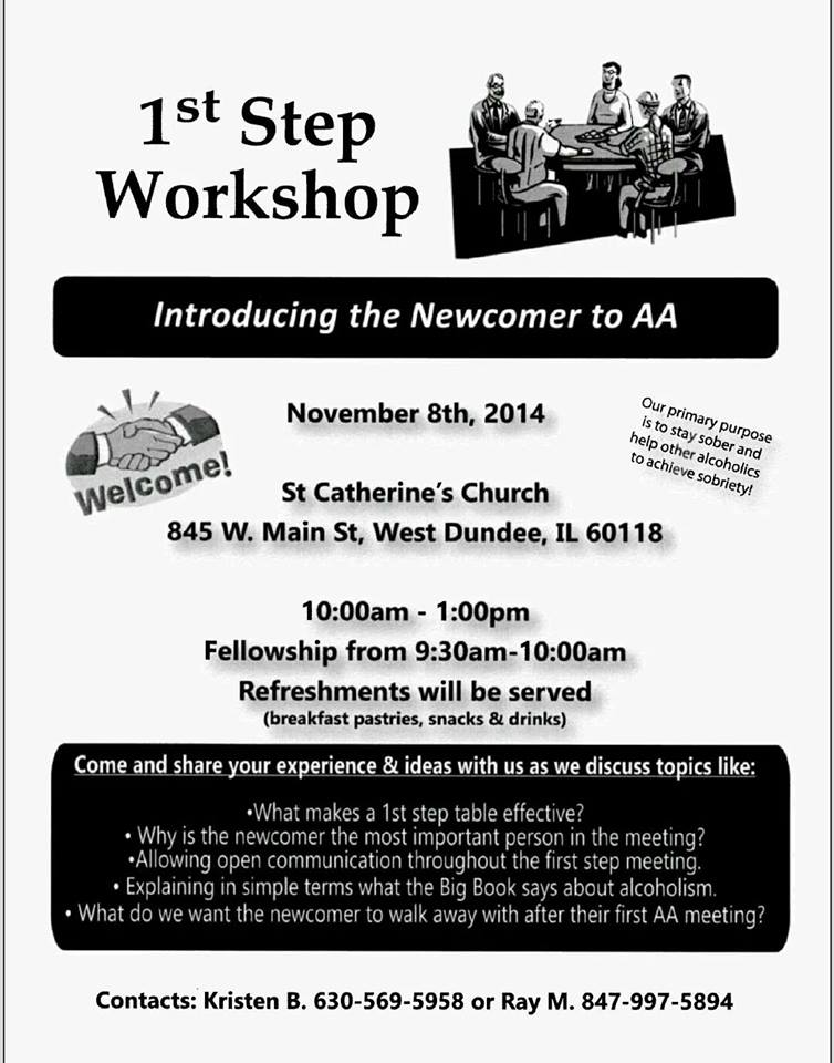 1st Step Workshop: Introducing the Newcomer to AA 1