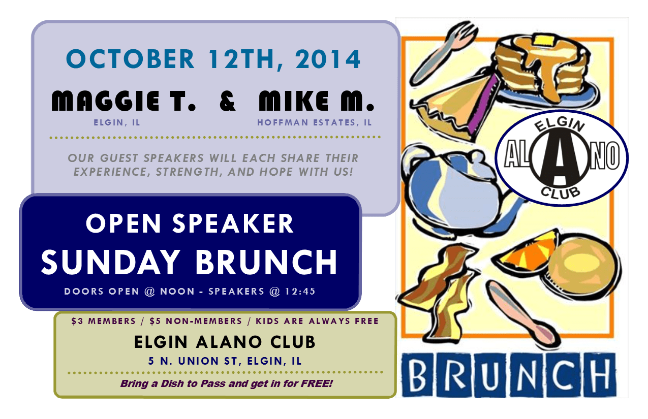 "Sunday ""Open Speaker"" Brunch - Tod B. and Christy M. 1"