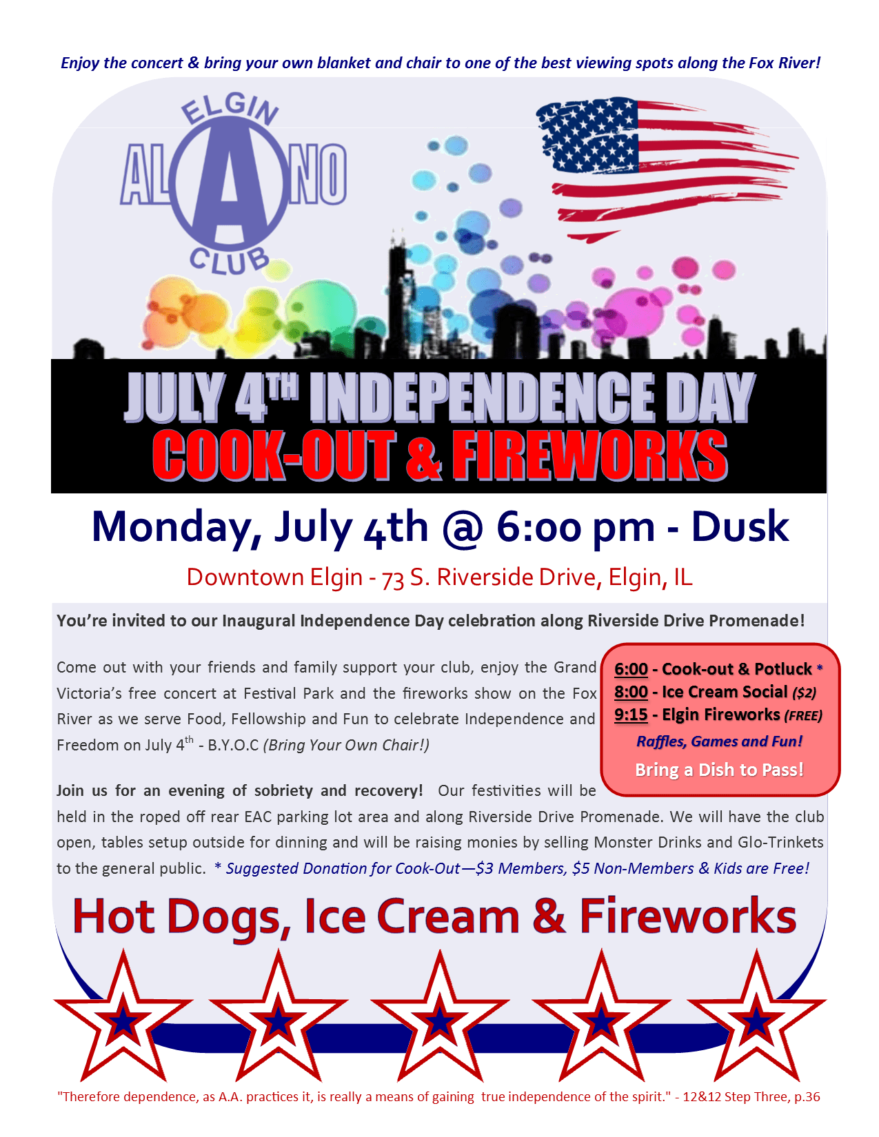 Independence Day Cook-Out, Potluck and Fireworks 1