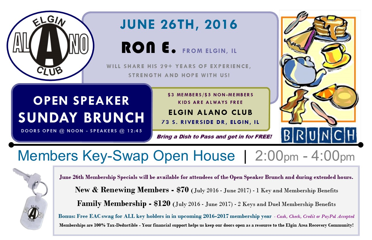 Sunday Open Speaker Brunch & Membership Key Swap Day 1