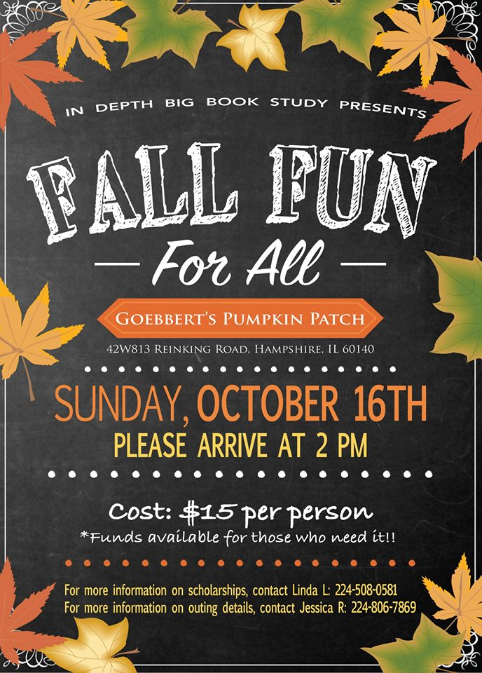 Big Book Outing - Fall Fun for All (Resched 10/23) 1