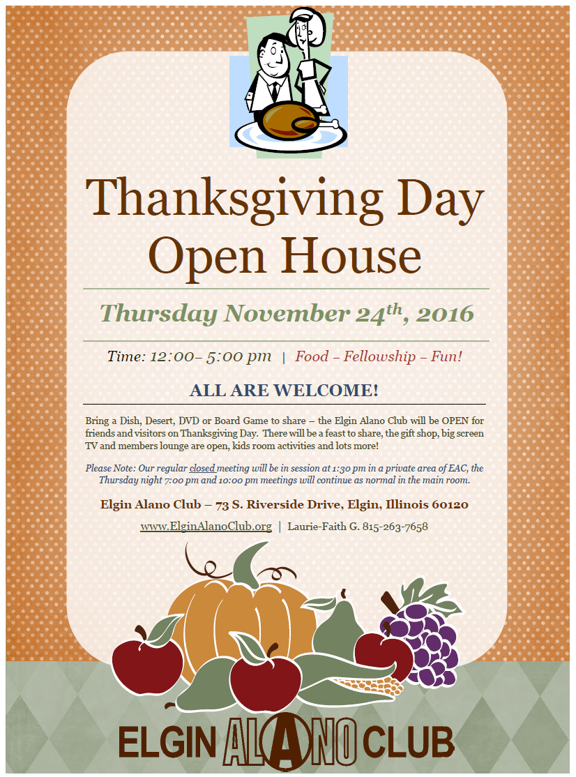 Thanksgiving Day Open House 1