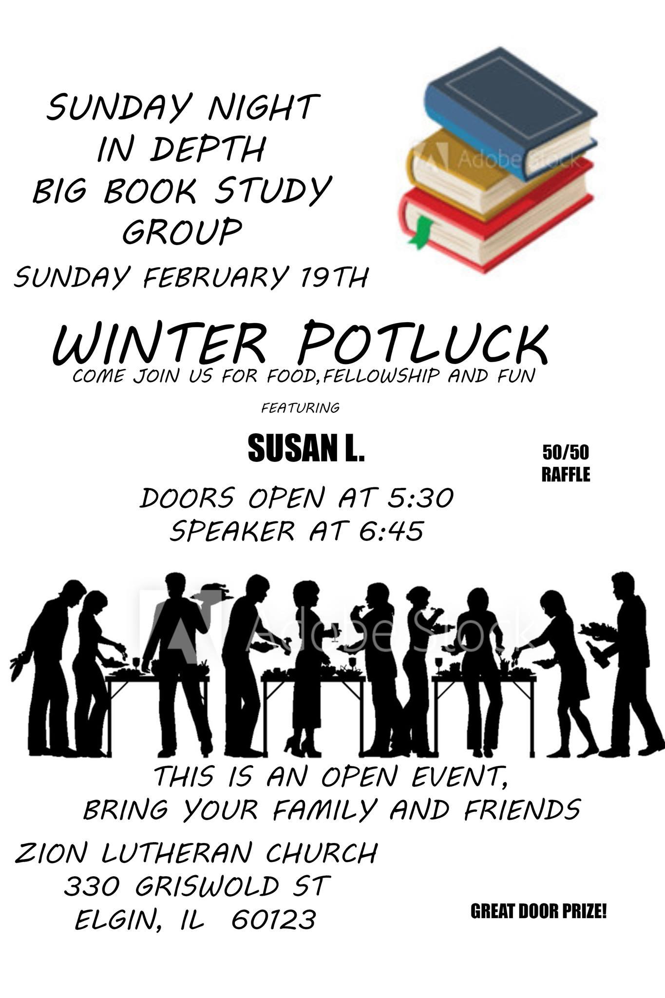 Winter Open Speaker Potluck – In-Depth Big Book Study Group 1