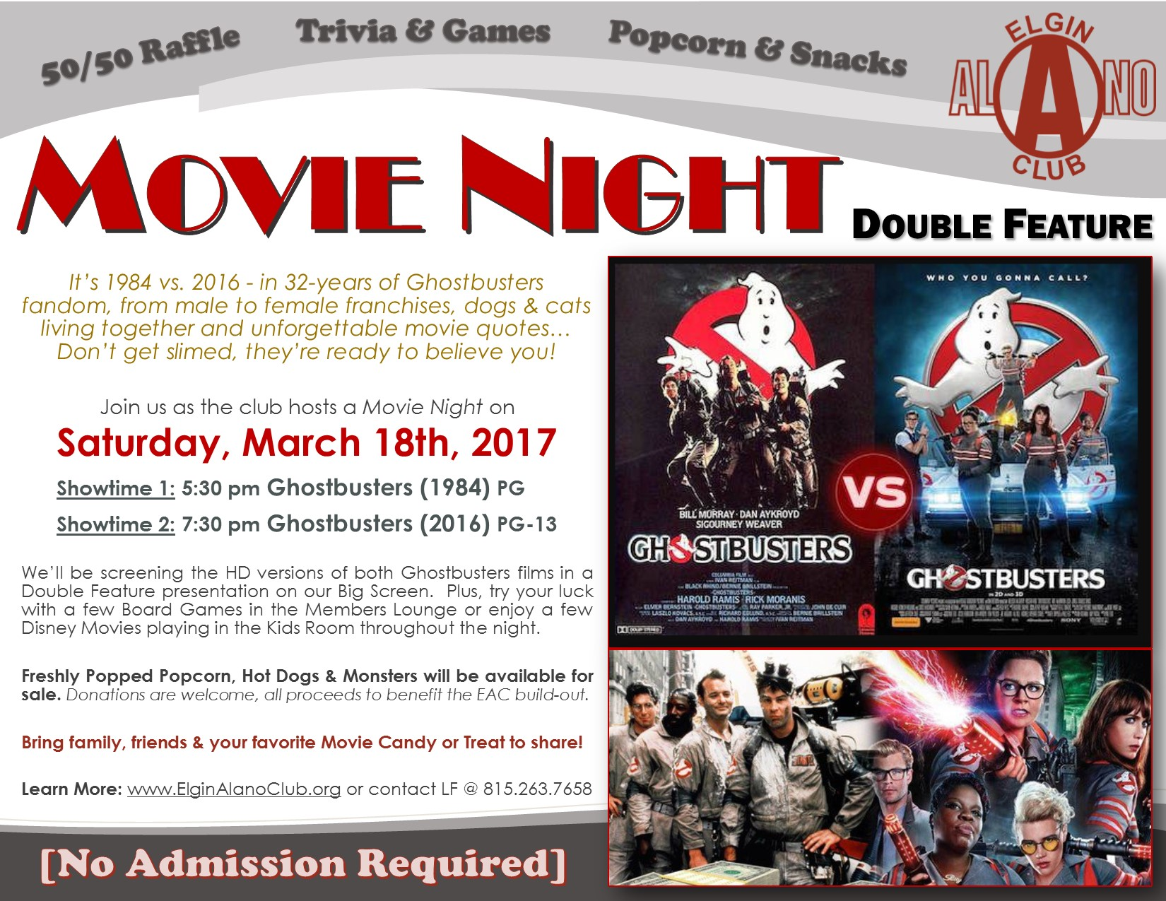 MOVIE NIGHT Ghostbusters Double Feature 1