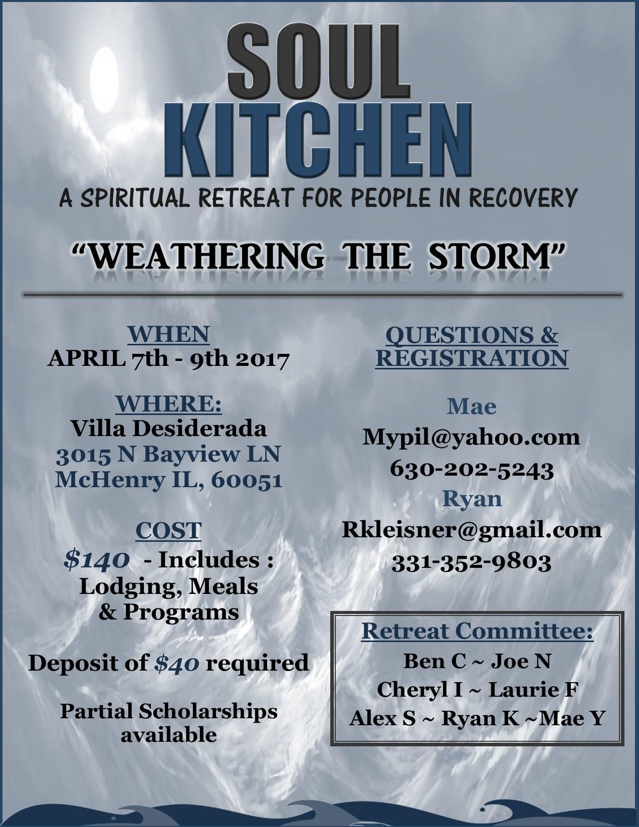 The Soul Kitchen Retreat: Spring 2017 1