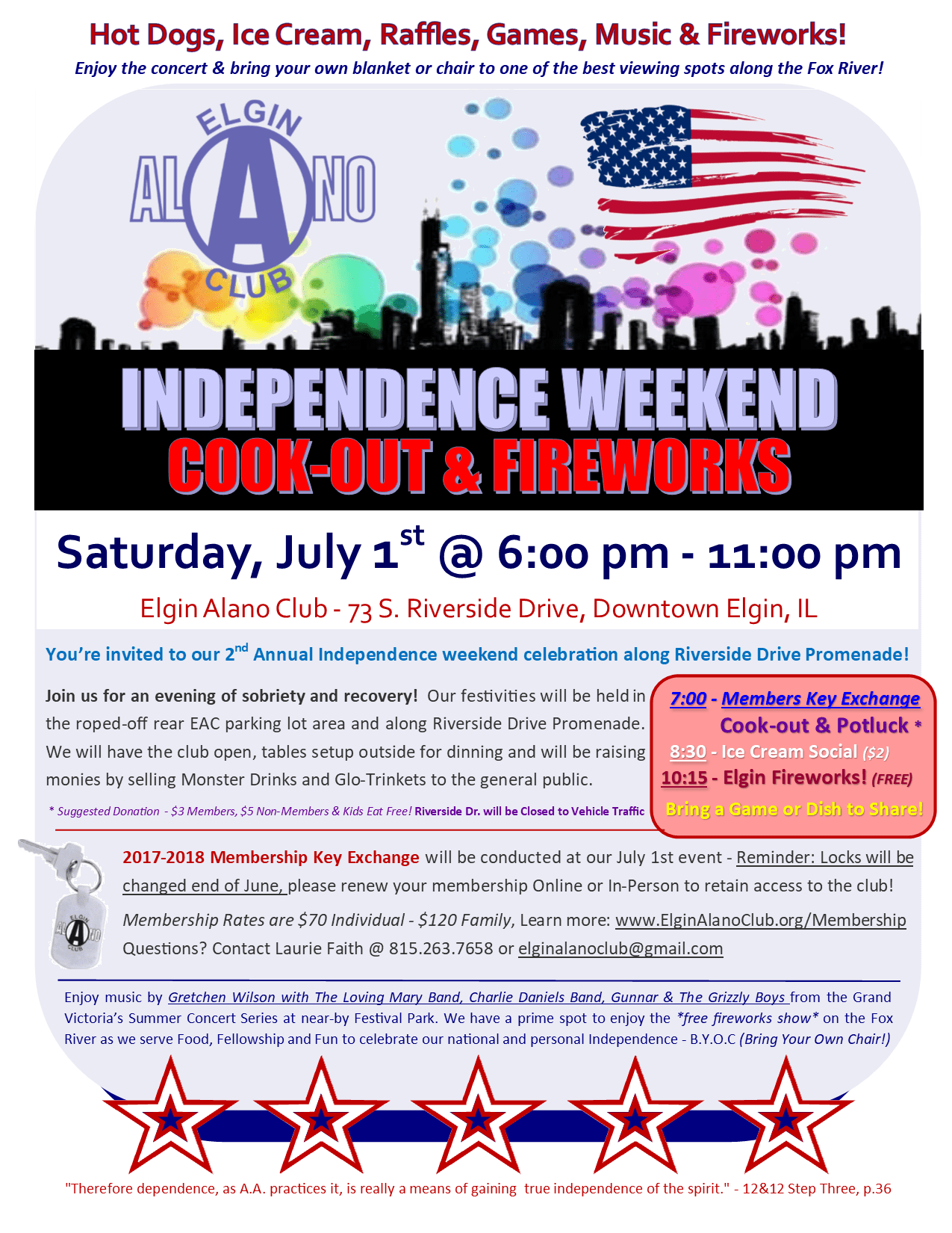 EAC Cook-Out, Fellowship & Fireworks - Membership Key Swap Open House 1