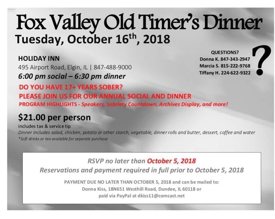 Fox Valley Old Timer's Dinner 1