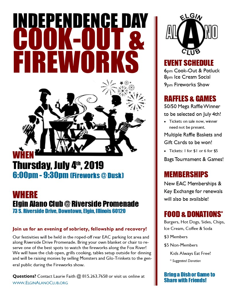July 4th Cook-Out, Fellowship & Fireworks 1
