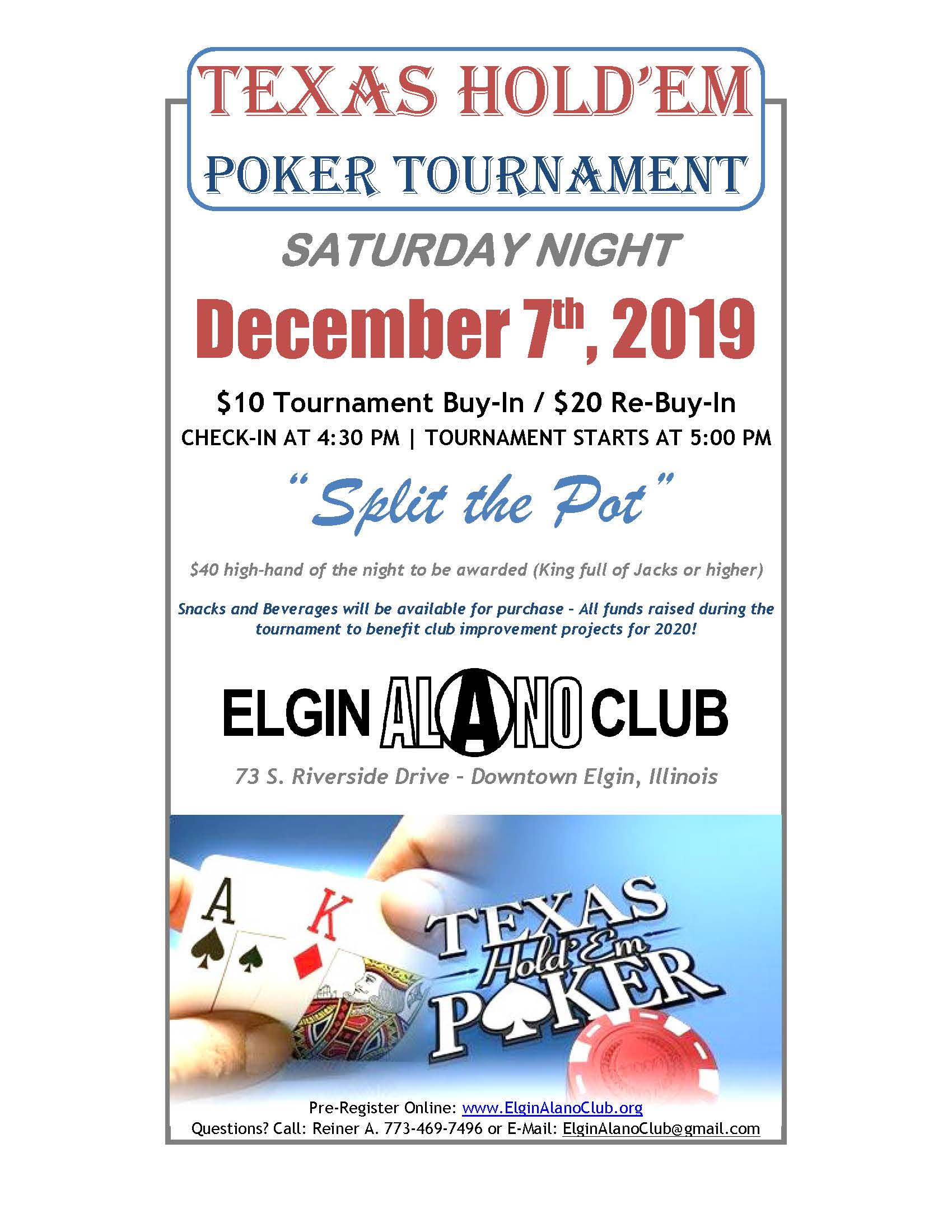 Poker Tournament 12-7-2019