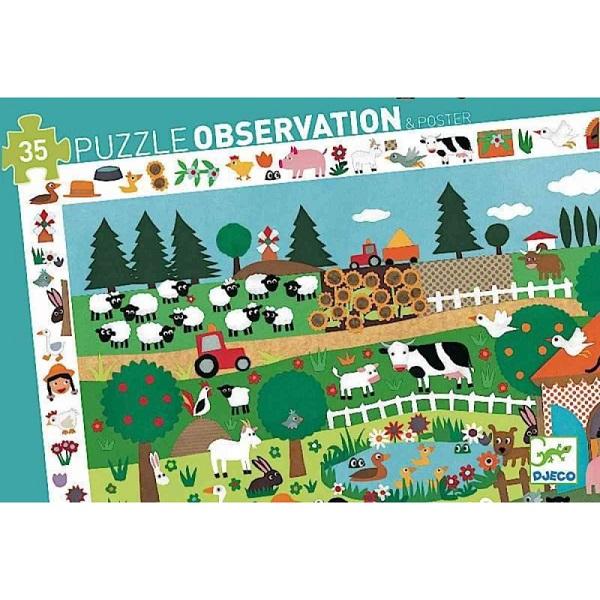 Puzzle de observacion la granja Djeco