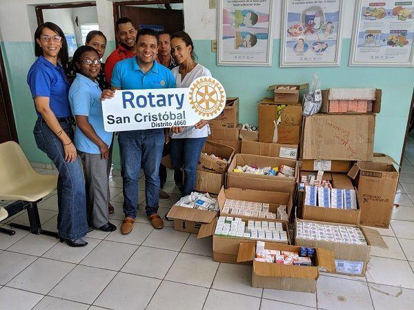 Rotary Club San Cristóbal hace efectiva la entrega de medicamentos a Centro de Primer Nivel