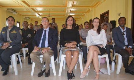 Policía Nacional de San Cristóbal, recibe taller por parte del MIP, sobre tráfico ilícito de migrantes y trata de personas