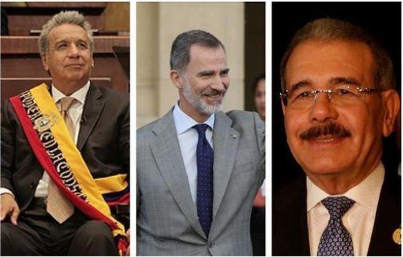 Felipe VI ofrecerá una recepción a los presidentes de Re. Do. y de Ecuador