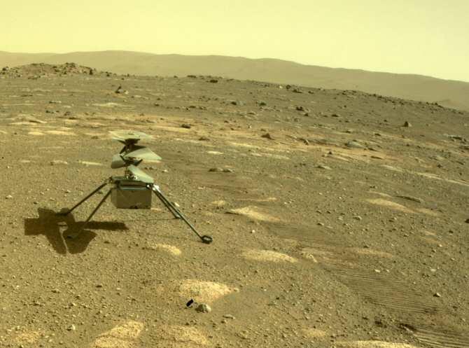 El dron de Marte ya está en su pista de despegue