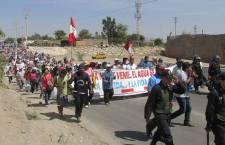 Pobladores de Ica se levantan en protesta contra un proyecto del Gobierno Regional que amenaza dejar sin agua a 6 mil personas