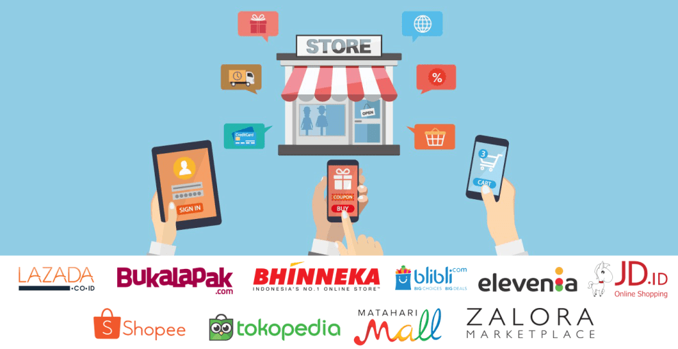 Top 5 Online Shops in Indonesia during 2019