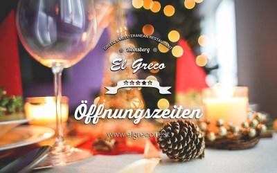 Öffnungszeiten Weihnachten & Silvester