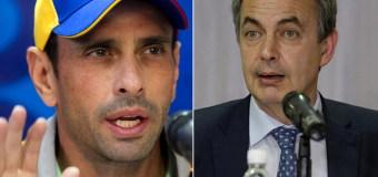¡POR LA COSTILLA! La contundente respuesta de Capriles a Rodríguez Zapatero