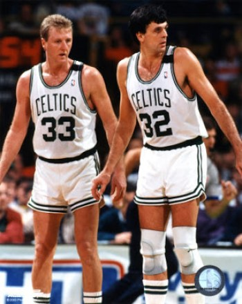 Larry Bird y Kevin McHale