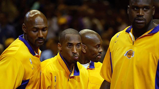 Kobe Bryant Shaq Payton y Malone