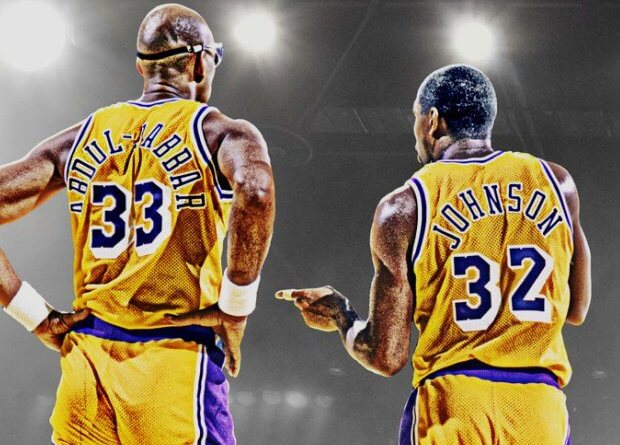 número 32 y 33 Magic y Kareem