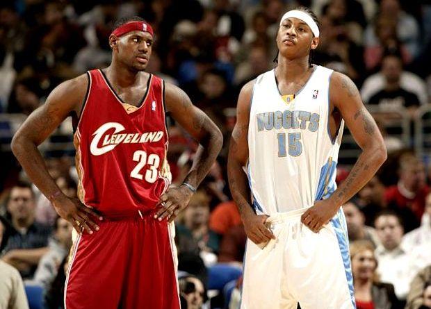 rookies Carmelo Lebron