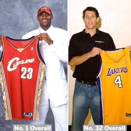 Lebron James y Luke Walton Draft