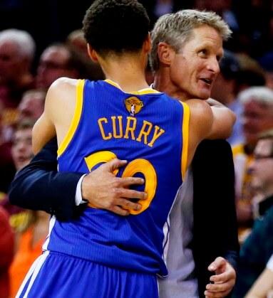 steve Kerr y Stephen Curry