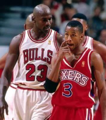 Jordan y Allen Iverson