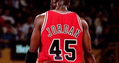 numero 45 de michael Jordan