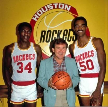 Hakeem Olajuwon, Bill Fitch y Ralph Sampson