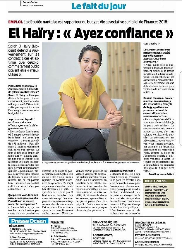 Article Presse Océan - 17 octobre 2017