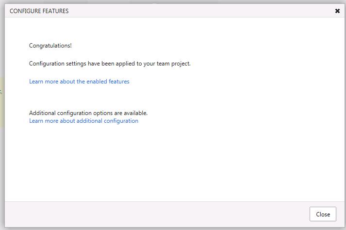 Run the Configure Features Wizard (5/5)