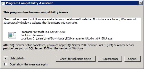 How to Install SQL Server 2008 Management Studio Express for TFS basic (2/6)