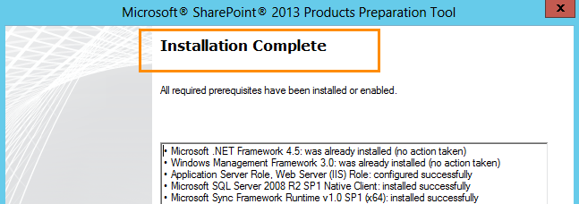 Installing SharePoint 2013 Products on Windows Server 2012 for Team Foundation Server 2012 (3/6)