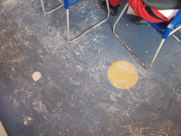 Kitchen floor after a flour fight!!!