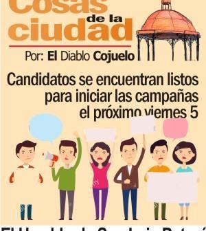 Candidatos se encuentran listos para iniciar las campañas el próximo viernes 5