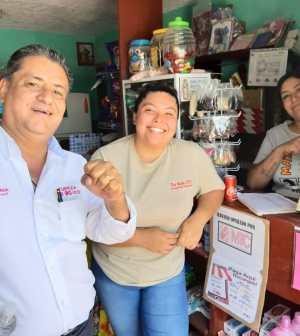 Gestionar recursos y apoyos, compromete Serna Camacho a habitantes de La Mantequilla, La Tinaja y colonia San José
