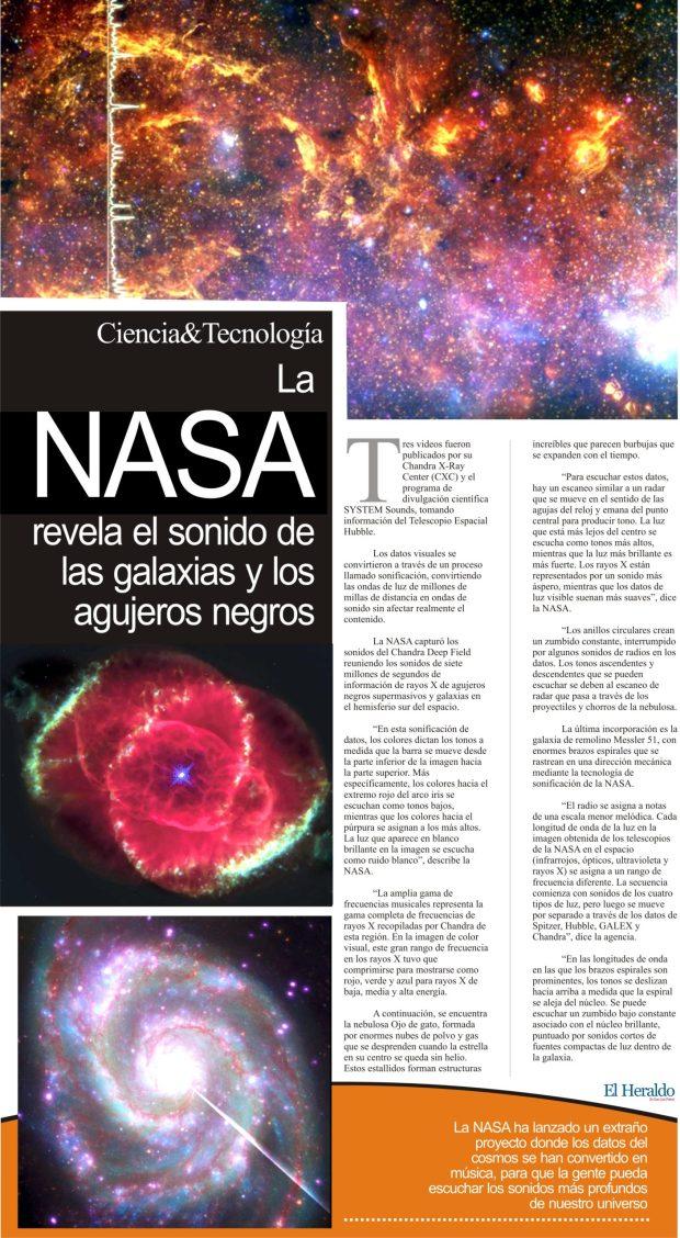 La Nasa revela el sonido de las galaxias