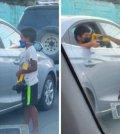 Niño comparte juguetes con un menor que limpiaba parabrisas