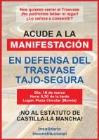 Manifestación en defensa del trasvase Tajo-Segura